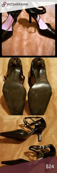 NEW TWIST SHOES Beautiful black low heel shoes worn once New Twist Shoes