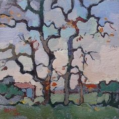 Sold | Boonzaier, Gregoire | Trees late Autumn - Newlands | Oil on canvas | Size : 210 x 214mm | Code : 9830