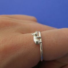 OMG, my mom would love this! {Down Under Ring Silver} Metal Sugar - koala bear for your finger! :)