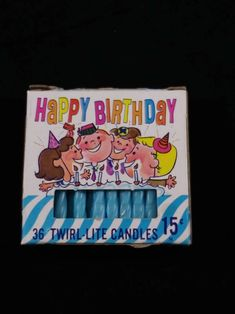 Twirl Lite Candles by Columbia Blue Candles 31 total Ready Happy Birthday Vintage, Blue Candles, Vintage Candles, Columbia Blue, Vintage Items, Vintage Style, Kitsch, Birthday Candles, Disneyland