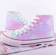 Harajuku galaxy tie-dye hand-painted canvas shoes