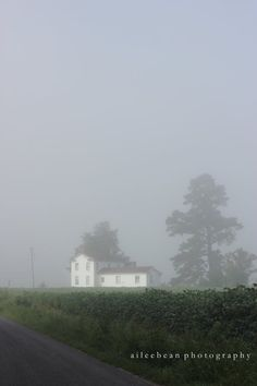 landscape photography fog farmhouse by aileebeanphotography, $20.00