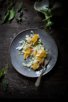 Fennel Salad with Oranges, Toasted Almonds and Lemon Thyme (from Naturally Vegetarian)