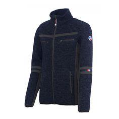 Veste tricot contrecollée polaire ou Softshell Bassy  #fusalp #bassy #veste #apresski #jacket  #marine #man