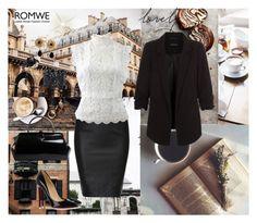"""Romwe 18"" by sarahguo ❤ liked on Polyvore featuring Prada, Christian Louboutin, Oscar de la Renta, Dolce&Gabbana and Pomellato"
