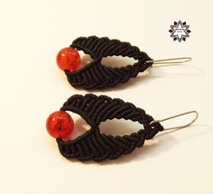 Tutorial: Red beaded earring