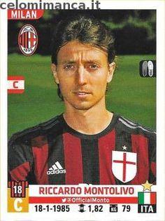 Calciatori 2015-2016: Fronte Figurina n. 371 Riccardo Montolivo