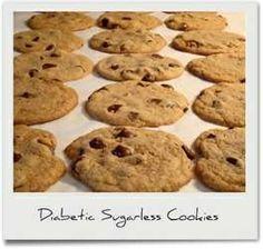 Art Diabetic Recipes: Diabetic Sugarless Cookies nummy-in-my-tummy Diabetic Cookies, Diabetic Desserts, Diabetic Recipes, Low Carb Recipes, Delicious Desserts, Yummy Food, Diabetic Foods, Healthy Recipes, Diabetic Cake