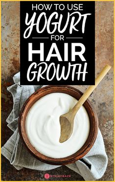 How To Use Yogurt For Hair Growth. While keeping your hair healthy is a task all by itself, focusing on growing your hair can be even harder. It takes a lot of care, energy, and effort on your part to keep your hair healthy and growing. But there are always ingredients that help speed up the process while adding to the health of your hair. #haircare