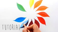 Tutorial | Only 3 colors to create a color wheel with colored pencils | ...