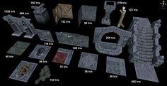 Another modular dungeon tileset - polycount