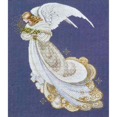 Angel of Dreams Lavender and Lace cross stitch