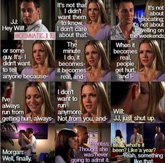 Jennifer Jareau and Will LaMontagne! Josh Stewart and AJ Cook - Morgan, Prentiss and Reid - their reactions just made that scene perfect :)