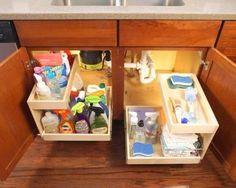 Sliding Under stair storage & Clever storage Ideas
