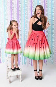 Enjoy easy returns when you buy darling vintage dresses, tops, bottoms and more. Mommy And Me Outfits, Kids Outfits Girls, Cute Outfits, Cute Dresses, Girls Dresses, Summer Dresses, Watermelon Outfit, Watermelon Costume, Unique Fashion