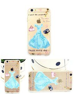 iPhone 6 Case, Apple iPhone 6 Case Anti-Scratch Clear Back for iPhone 6 Plus- Blue Dress TPU soft iPhone 6 soft case(5.5'') for girls