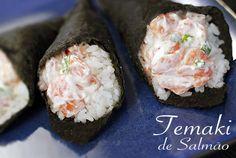 PANELATERAPIA - Blog de Culinária, Gastronomia e Receitas: Temaki de Salmão