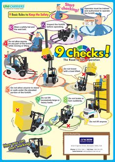 Forklift Safety Tips - 9 Basic Rules To Keep The Safety