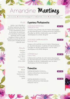 Resume infographic : CV Printanier pour un CV original, et rebooster vos candidature!