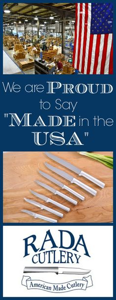 We're proud to say that Rada Cutlery is 100% Made in the USA (see video at the bottom of this article to hear from Rada Mfg. Co. employees and to see clips of the cutlery being manufactured). When you support Rada Cutlery, you're supporting an American business with American workers who have a family just like you do. Who have dreams and ambitions just like you. #madeinamerica #USA #americanmade