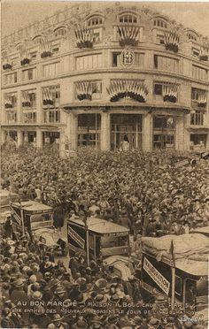 Le Bon Marché, le jour de l'inauguration