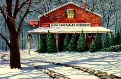 hiver à feuilles persistantes Wallpaper