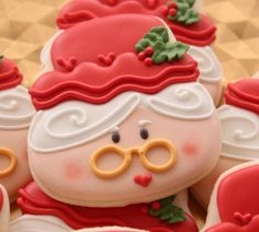 Mrs. Claus Cookies{Sweet Sugar Belle}