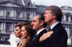 The Shah of Iran and Empress Farah Diba visit President Jimmy Carter and wife, Rosalyn on their official US visit 1977