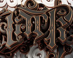 Black Palace on Behance Cool Typography, Cool Lettering, Graffiti Lettering, Vintage Typography, Lettering Design, Logo Design, Graphic Design, 3d Design, Font Art