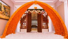The Bride Tribe Community Marriage Decoration, Wedding Stage Decorations, Flower Decorations, Decor Wedding, Blue Wedding, Ganesh Chaturthi Decoration, Ganapati Decoration, Decoration Entree, Indian Wedding Planning