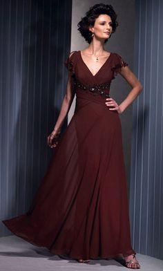 High Quality Mother Of The Bride Dress Floor Length Beading Appliques Short Sleeve V Neck Chiffon 2012 Wedding Party Dresses Long Mothers Dress, Mother Of Groom Dresses, Bride Groom Dress, Mothers Dresses, Mother Of The Bride, Bride Dresses, Buy Dress, Dress Up, Beaded Chiffon