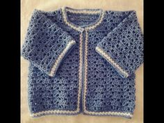 Jersey o chambrita de bebe a crochet #tutorial #DIY 1 parte - YouTube