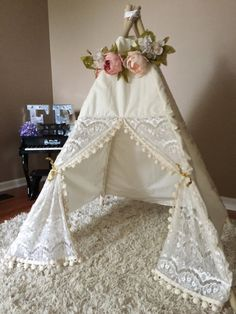 CREAM LACE Itty Bitty Teepee by EEteepees on Etsy
