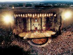 The Choregies Opera Festival, Roman theatre at Orange, France