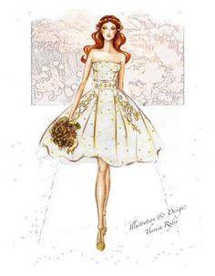T/R Fashion Illustration Bridal 2013, designer Theresa Rydie