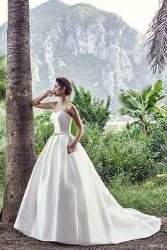 eddy k bridal 2017 strapless semi sweetheart ball gown wedding dress (martinique) mv princess romantic