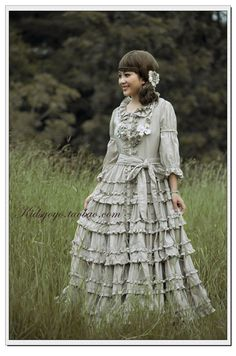 I love this! The best part is that the bottom 2 tiers are detachable so you can go from Mori Girl to Classic Lolita in 1,2, petticoat! ^_^ ~ $218