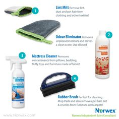 Norwex top sellers. Online marketing images.