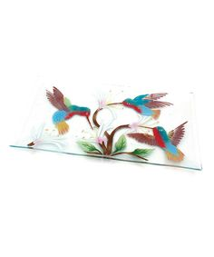 Loving this Hummingbirds Serving Tray on #zulily! #zulilyfinds