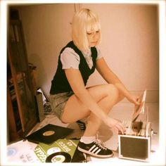 This is a woman. #SkinheadGirl #Adidas #45s