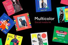 """Check out this @Behance project: """"Multicolor Social Media Kit"""" https://www.behance.net/gallery/42051841/Multicolor-Social-Media-Kit"""