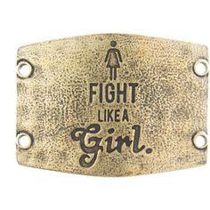 Lenny Eva Jewelry Fight Like A Girl Large Sentiment Cuff Bracelets