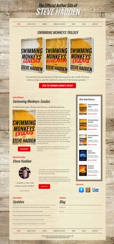 Author Steve Hadden is a long time client of Red Spot Design.  We designed his original website in 2011 and we just recently launched his new updated responsive formatted site that uses the WordPress Content Management System that gives Mr. Hadden the ability to update his website easily via the back-end admin area. Check out his new website at www.stevehadden.com
