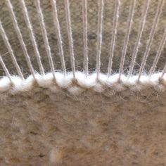 100% Cotton warp.  100% Karakul wool weft.