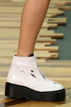 There is definitely a Doc Marten inspiration in Celine's shoe collection for fall. I like, I like!