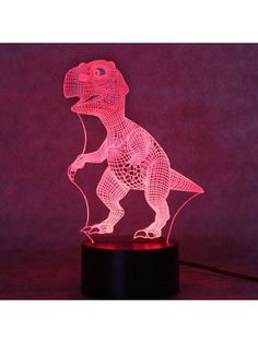 Remote - Ice Crack Base LETOUR Night Light Dinosaur LED 3D Light for Kids Porpoise Illusion Lamp with Remote Control 16 Color Changing Xmas Halloween Birthday Gift for Child Baby Boy