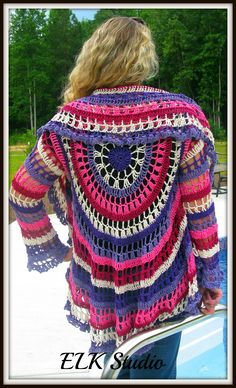 You can check out more details and pictures here:  http://elkstudiohandcraftedcrochetdesigns.com/2013/07/10/my-first-crocheted-jacket/