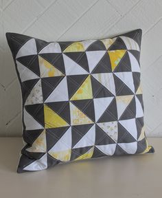 HST pillow w/vintage sheet details