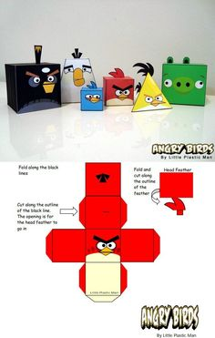 paper crafts angrybirds   4 Awesome Family Fun Crafts You Can Make With Online Printables