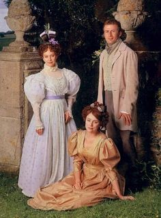 """Wives & Daughters BBC - Mis-matched trio, Mrs Gibson with her """"unsatisfactory, willful"""" daughter Cynthia and the equally unsatisfactory younger son to a squiredom - Roger Hamley - Elizabeth Gaskell Best Period Dramas, Period Movies, The Young Victoria, Jane Austen Movies, Little Dorrit, Bbc, Elizabeth Gaskell, Romantic Period, Movie Costumes"""